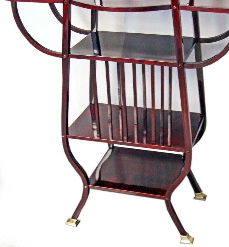 Thonet Art Nouveau Shelves Side Table Étagère Bentwood Vienna Made, circa 1900 5