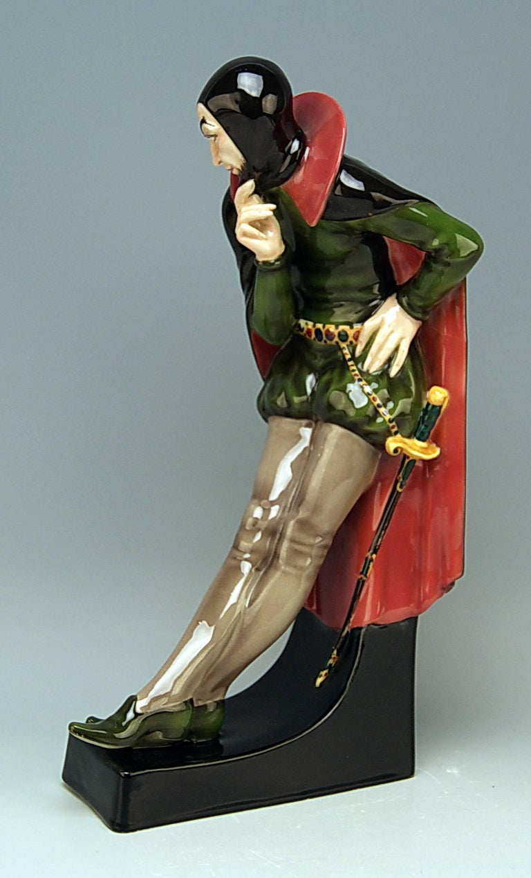 Goldscheider Vienna gorgeous rare figurine: Mephisto / Devil