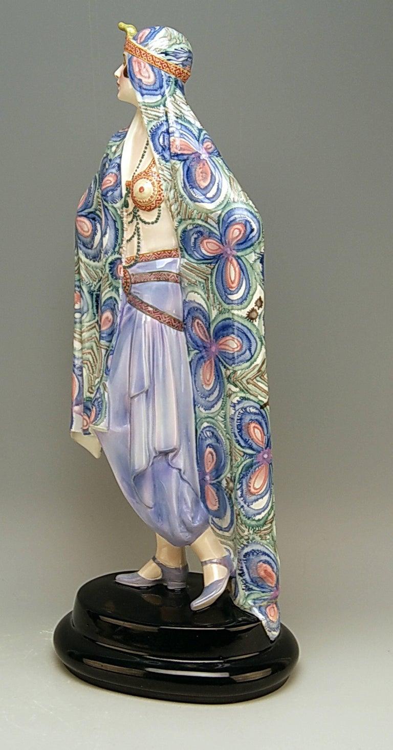 Art Deco Goldscheider Vienna Lady Odalisque Aida by Josef Lorenzl Model 5281 For Sale