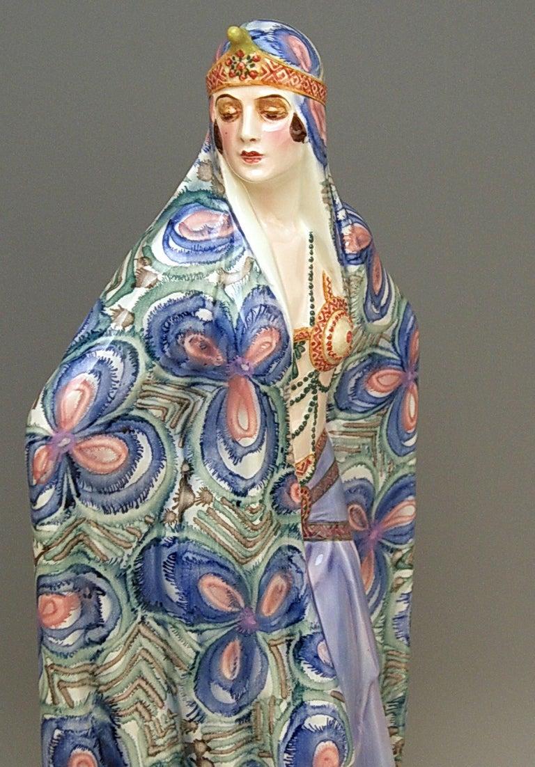 Goldscheider Vienna Lady Odalisque Aida by Josef Lorenzl Model 5281 5