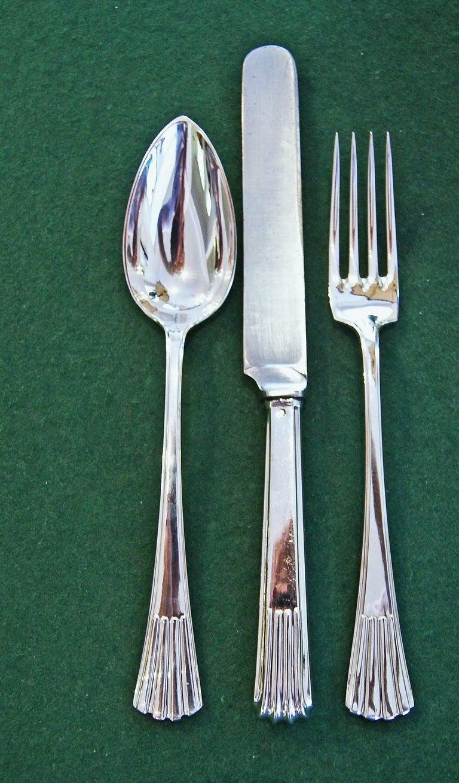 Silver 800 186-Piece Flatware Cutlery Set 12 Persons V.C.Dub Austria Vienna 1915 9
