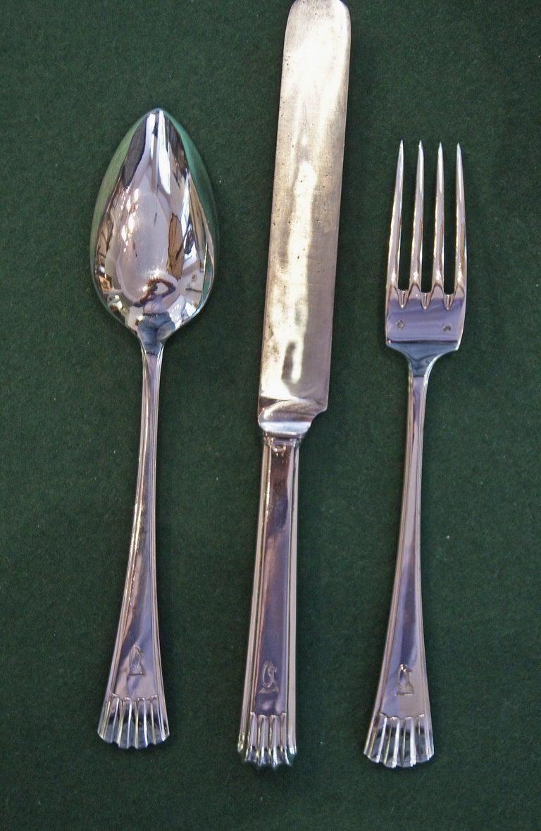 Silver 800 186-Piece Flatware Cutlery Set 12 Persons V.C.Dub Austria Vienna 1915 8