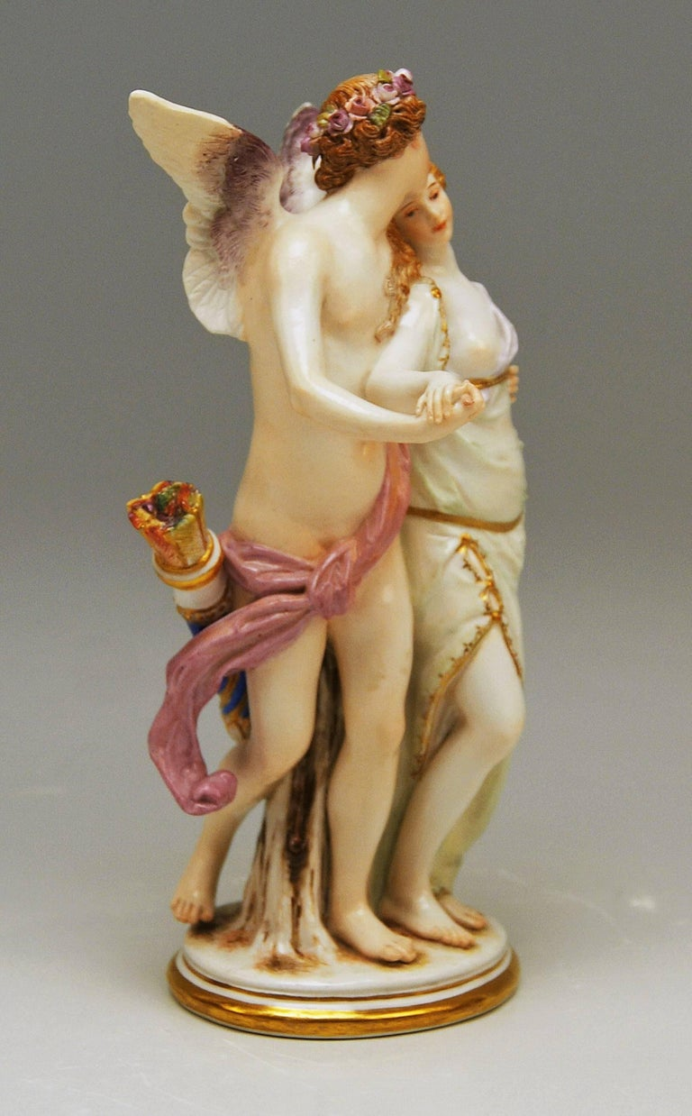 Meissen stunning rarest figurine group: Zephyr and Flora / The Ideal Love