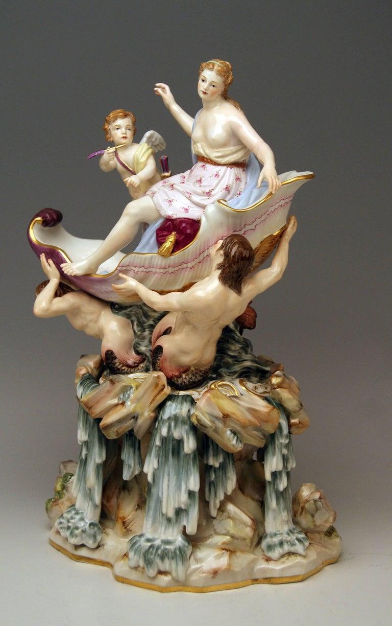 Mid-19th Century Meissen Triumph of Venus Model 127 Kaendler Kändler Johann Joachim For Sale