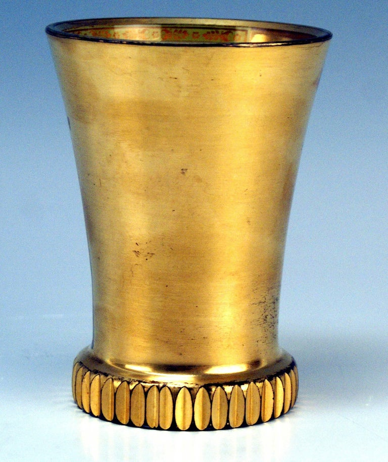 Austrian Glass Biedermeier Transparent Beaker Church Saint Stephen Vienna Kothgasser 1825 For Sale
