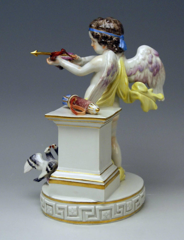 German Meissen Cherub of Love Model G 30 by Michel Victor Acier Made 20th Century For Sale