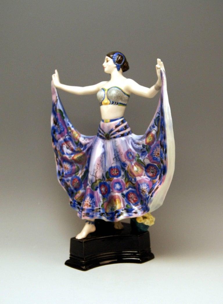 Austrian Goldscheider Vienna Lady Dancer Ruth by Rosé Model 4141, Made circa 1925 For Sale