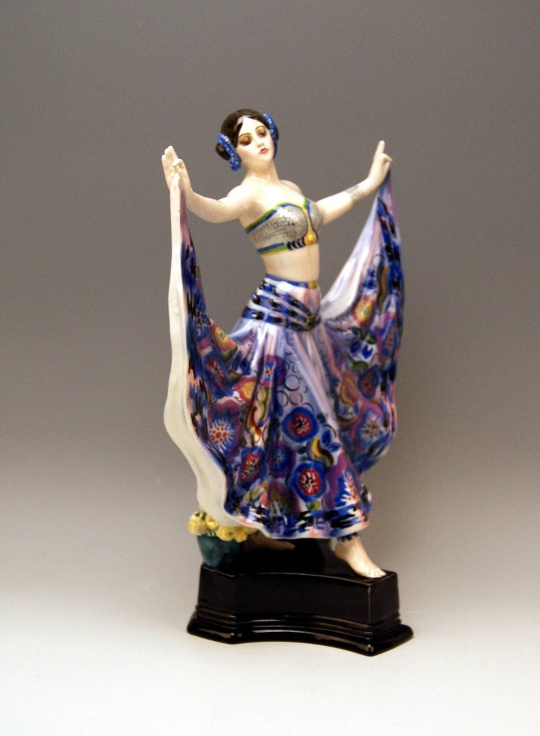 Art Deco Goldscheider Vienna Lady Dancer Ruth by Rosé Model 4141, Made circa 1925 For Sale