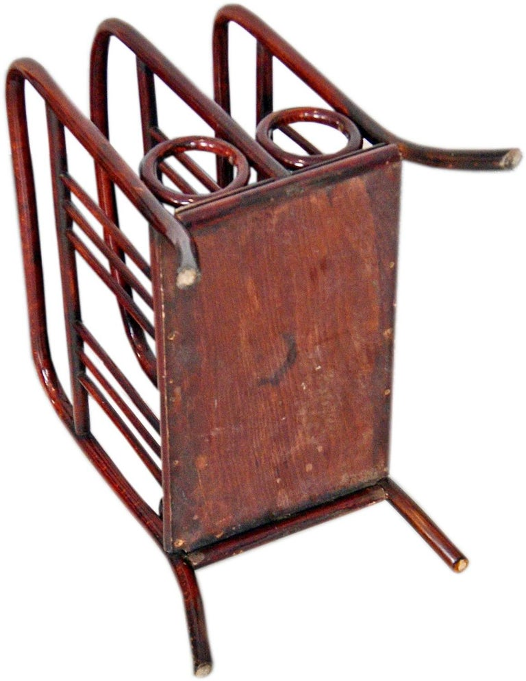 Stained Thonet Vienna Art Nouveau Music or Newspaper Magazine Stand Model 33, 1904-1906 For Sale