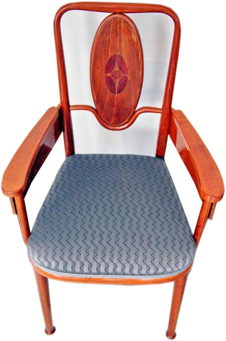 Thonet Vienna Art Nouveau Armchair Model 414 Marcel Kammerer, circa 1905-1908 In Excellent Condition For Sale In Vienna, AT