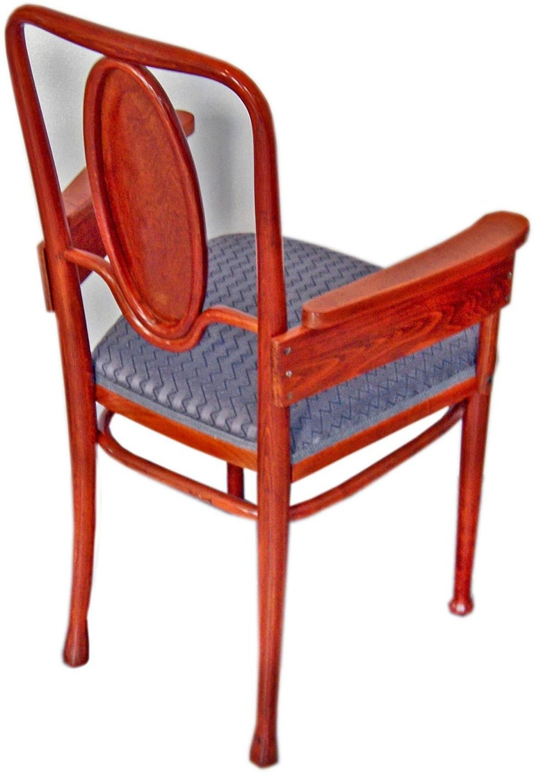 Stained Thonet Vienna Art Nouveau Armchair Model 414 Marcel Kammerer, circa 1905-1908 For Sale