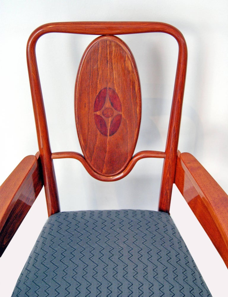 Early 20th Century Thonet Vienna Art Nouveau Armchair Model 414 Marcel Kammerer, circa 1905-1908 For Sale