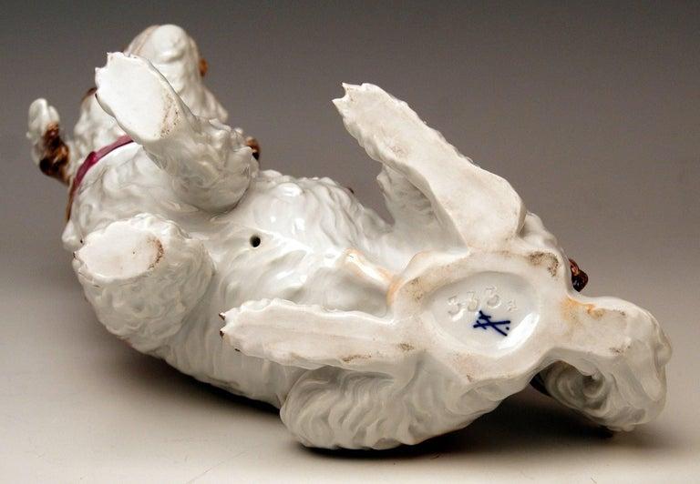 Meissen Dog Figurine Spaniel, Johann Joachim Kaendler Pfeiffer Period 1924-1934 In Excellent Condition For Sale In Vienna, AT