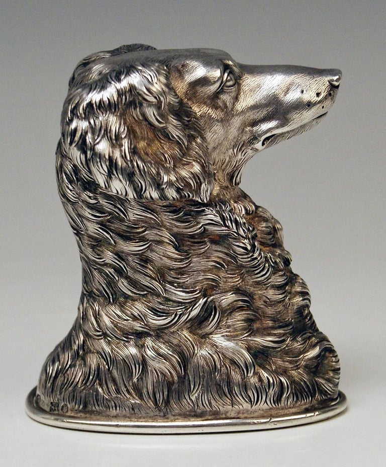 Other Silver Russian Stirrup Cup Dog Head by Samuel Arnd St.Petersburg, 1856 For Sale