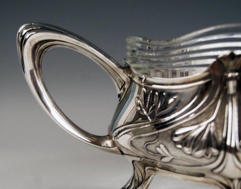 Silver Art Nouveau Flower Bowl, Germany Koch & Bergfeld, circa 1900 For Sale 6