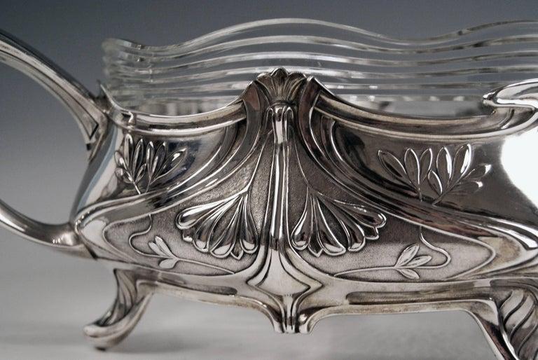 Silver Art Nouveau Flower Bowl, Germany Koch & Bergfeld, circa 1900 For Sale 5