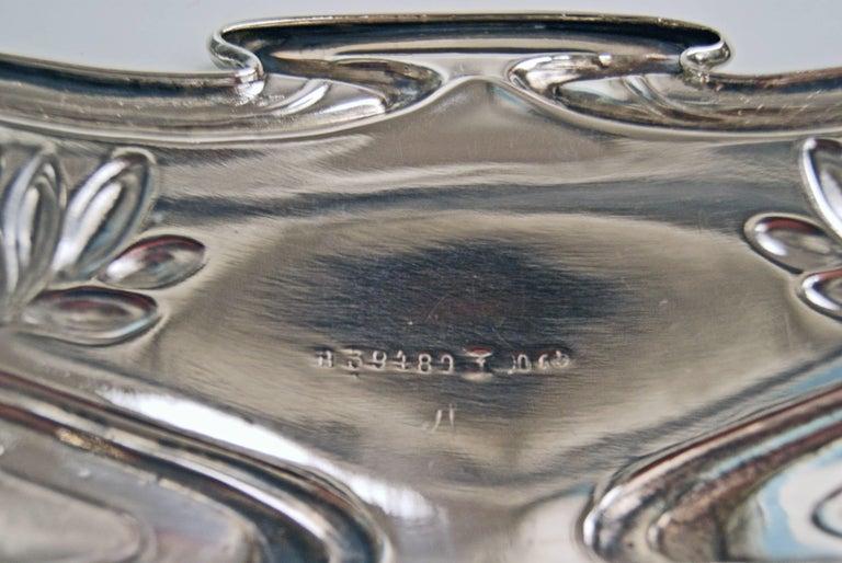 Silver Art Nouveau Flower Bowl, Germany Koch & Bergfeld, circa 1900 For Sale 10