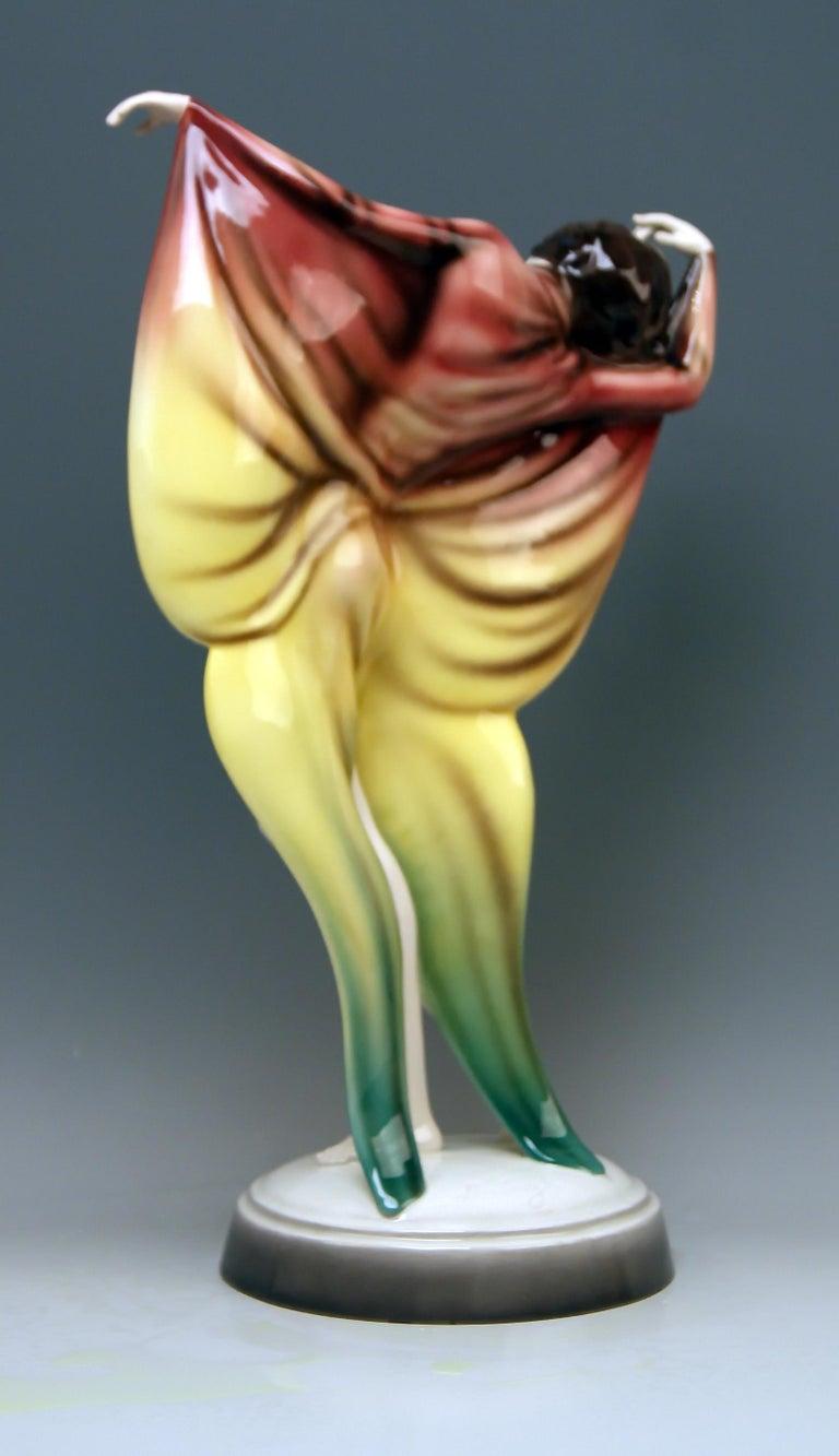 Austrian Goldscheider Vienna Lady Dancer Butterfly Costume Model 5900 Lorenzl For Sale