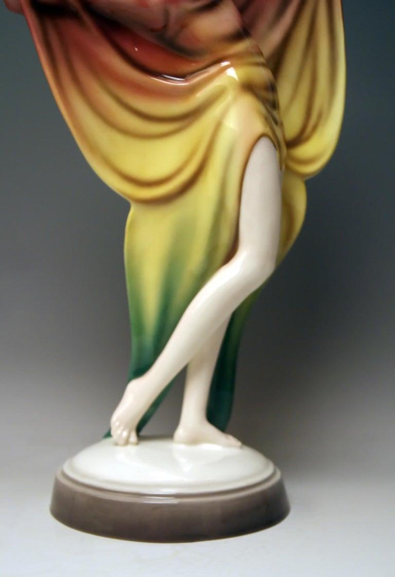 Goldscheider Vienna Lady Dancer Butterfly Costume Model 5900 Lorenzl For Sale 3