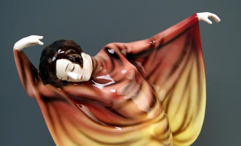 Goldscheider Vienna Lady Dancer Butterfly Costume Model 5900 Lorenzl For Sale 1