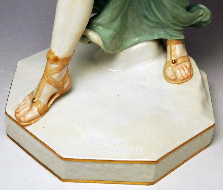 Meissen Figurine Girl Throwing Hoop Reifenspielerin A 235 by R. Boeltzig In Excellent Condition For Sale In Vienna, AT