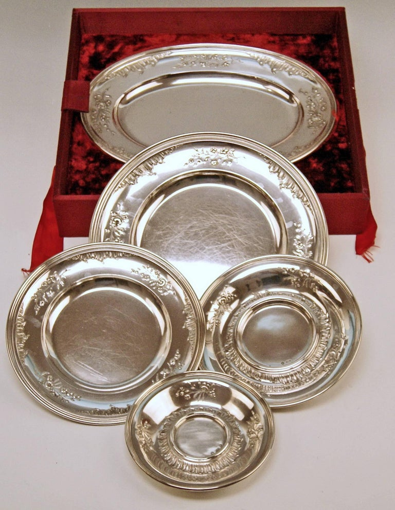 Silver Austria Vienna Set of Dishes Countess Sandizell-Lamberg by Klinkosch For Sale 5