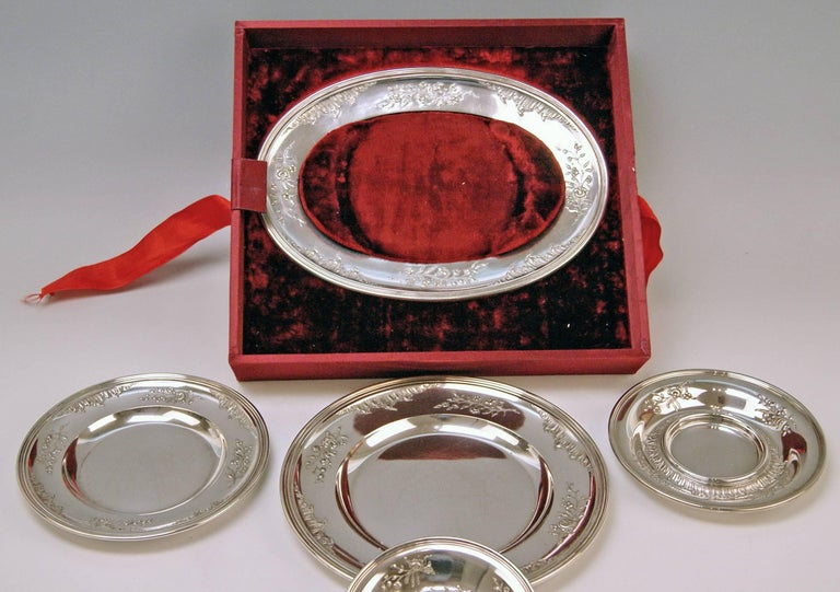 Silver Austria Vienna Set of Dishes Countess Sandizell-Lamberg by Klinkosch For Sale 3