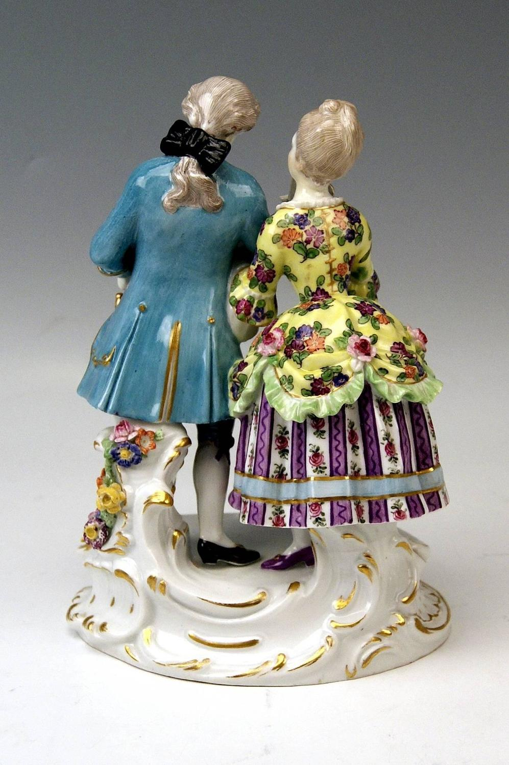 Meissen Gallant Pair Of Figurines By August Ringler Made