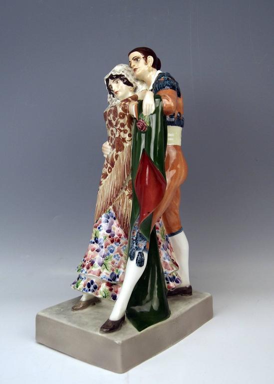 Goldscheider Vienna Dancing Spanish Couple by Karl Perl, circa 1922 10