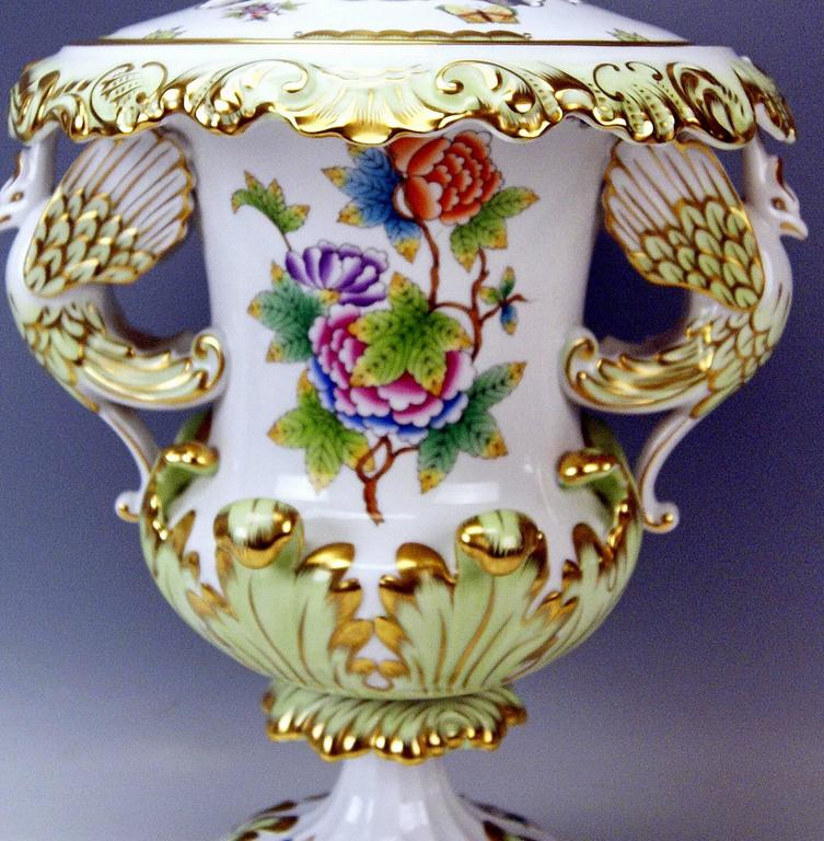 Other Herend Huge Lidded Vase VBO Hungary, circa 1950,  Height: 22.63 inches For Sale