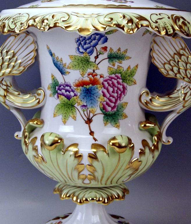 Hungarian Herend Huge Lidded Vase VBO Hungary, circa 1950,  Height: 22.63 inches For Sale