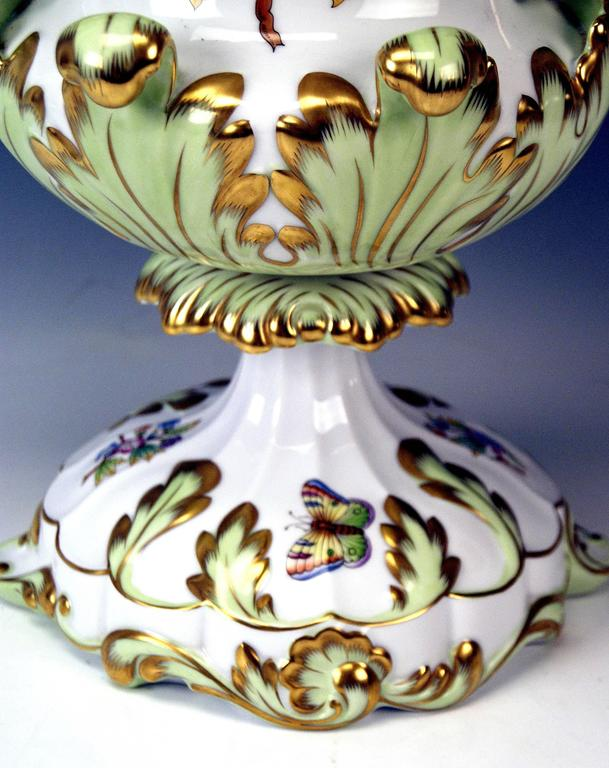 20th Century Herend Huge Lidded Vase VBO Hungary, circa 1950,  Height: 22.63 inches For Sale