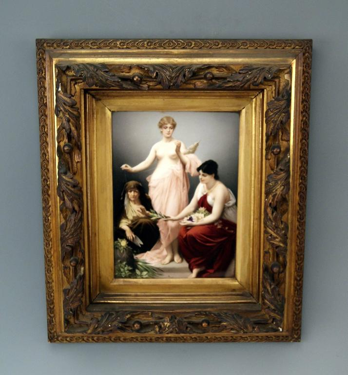 KPM Berlin Gorgeous porcelain picture painting: