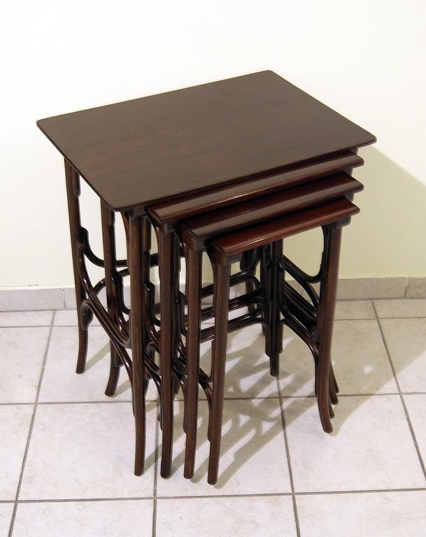Thonet Art Nouveau Vienna nesting tables.