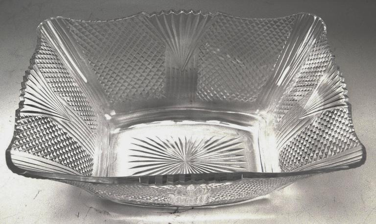 Silver Antique Austrian Art Nouveau Tall Centrepiece Gorgeous Glass Bowl, c.1900 For Sale 2