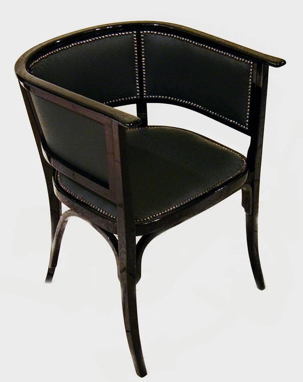Austrian Thonet Vienna Art Nouveau Armchair Number 6575, circa 1905 For Sale