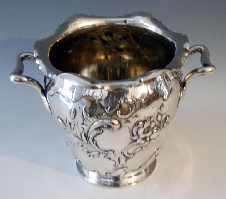 Silver Champagne Cooler 41.62 Oz Germany Koch & Bergfeld Bremen, circa 1890 2