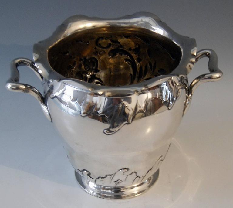 Silver Champagne Cooler 41.62 Oz Germany Koch & Bergfeld Bremen, circa 1890 3