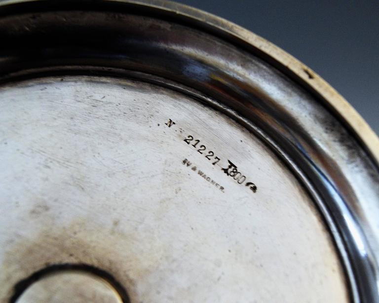 Silver Champagne Cooler 41.62 Oz Germany Koch & Bergfeld Bremen, circa 1890 5