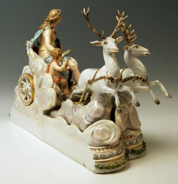 Meissen gorgeous as well as rarest huge figurine group, once made first by order of Russian Czarina Katharina the Second (= Catherine the Great) during years 1772/1773 for equipment / facility of Lomonossow Castle (= the so-said 'Pavillon an den