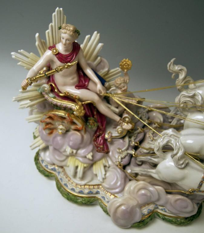 Meissen gorgeous as well as rarest huge figurine group, once made first by order of Russian Czarina Katharina the Second (= Catherine the Great) during years 1772-1773 for equipment / facility of Lomonossow Castle (= the so-said 'Pavillon an den