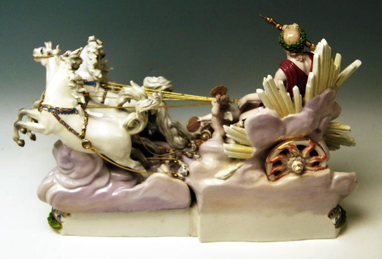19th Century Meissen Apollo in Chariot of Sun by Kaendler for Czarina Katharina made c.1870 For Sale