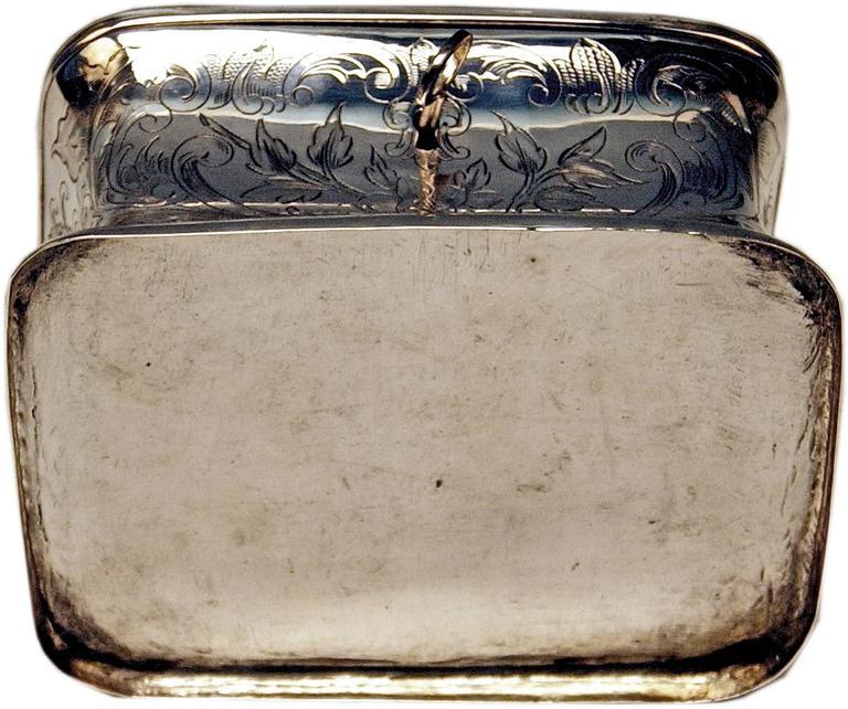 Austrian Silver Sugar Box like Chest with Key, circa 1900 For Sale 2