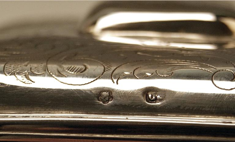 Austrian Silver Sugar Box like Chest with Key, circa 1900 For Sale 3