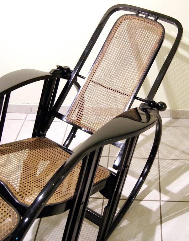 """Antonio Volpe Udine/Josef Hoffmann (Attr.) """"Egg"""" Black Rocking Chair, circa 1922 5"""