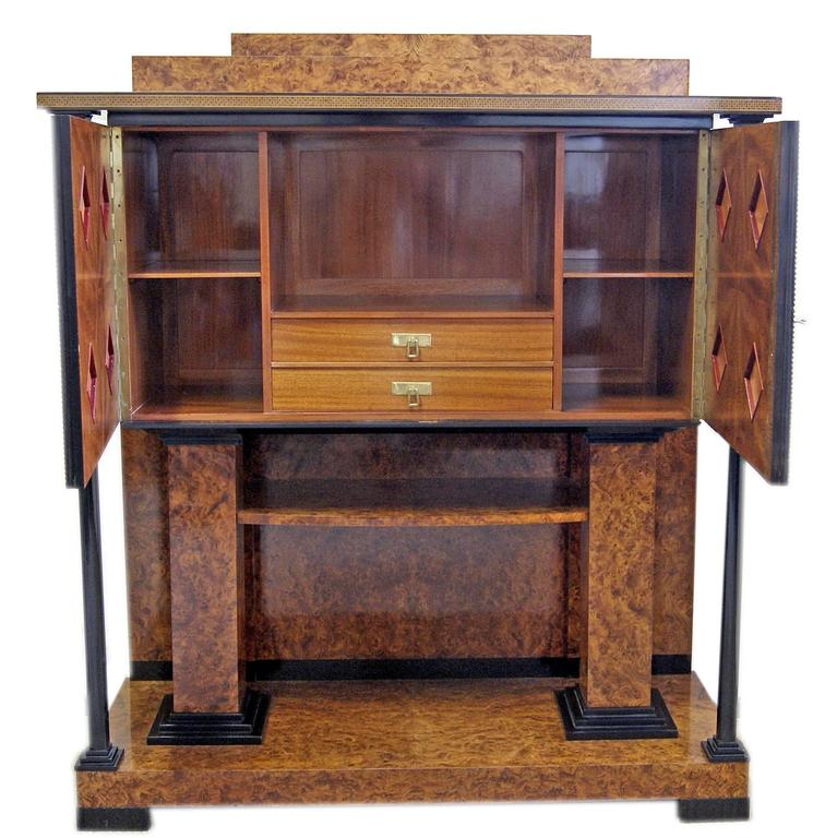 Art Nouveau Josef Maria Olbrich Music Room Cabinet Darmstadt Germany made c.1900 For Sale