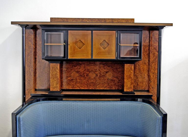Josef Maria Olbrich Music Room Settee Cabinet Darmstadt Germany made c.1900 In Good Condition For Sale In Vienna, AT