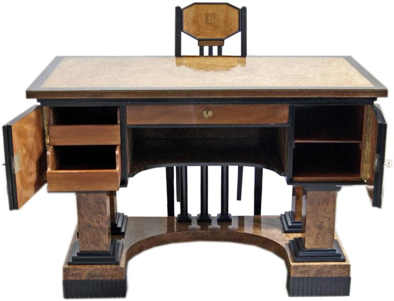 Music Room Desk Two Chairs Circle Josef Maria Olbrich Darmstadt Germany c.1900 3