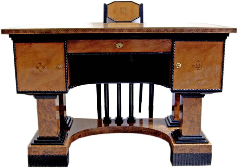 Music Room Desk Two Chairs Circle Josef Maria Olbrich Darmstadt Germany c.1900 5
