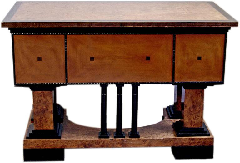 Music Room Desk Two Chairs Circle Josef Maria Olbrich Darmstadt Germany c.1900 6